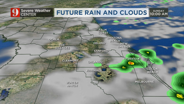 Wettest day this week: Storms move through Central Florida