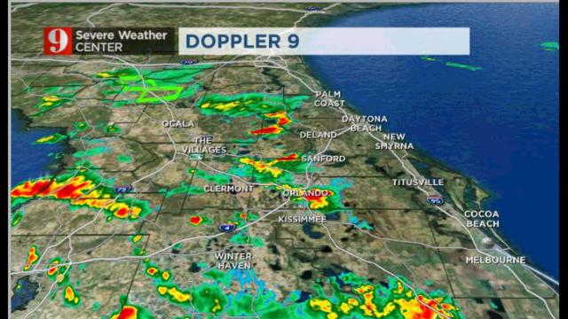 LIVE RADAR: Rain, showers moving through Central Florida