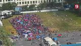 Watch: Time-lapse shows crowd gather for President's campaign announcement