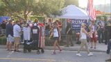 VIDEO: Heavy traffic expected as roads close, Trump supporters camp out for campaign rally
