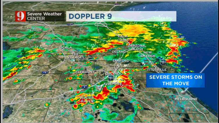 Tornado warning issued for Orange, Osceola counties