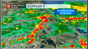 Severe weather moves across Central Florida Wednesday afternoon.