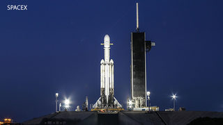 Video: SpaceX Falcon Heavy rocket set for first nighttime launch at Cape Canaveral