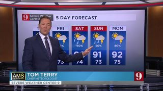 Storm chance increases, slight relief