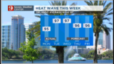 Heat wave in Central Florida, isolated storm chance