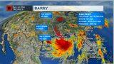 Barry forecast track, Friday 5 p.m.
