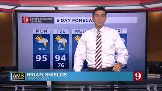 Hot, high indices, rain chances increasing