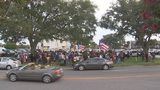 Video: Hundreds protest Puerto Rican governor outside Orlando office