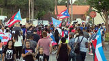 VIDEO: Hundreds call for Puerto Rico governor to resign in protest outside Orlando office