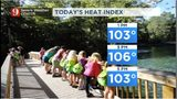 The heat is on: Temps to feel as high as 106 before afternoon storms blow in Thursday