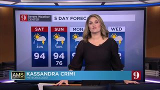 Hot temperatures, afternoon storms expected