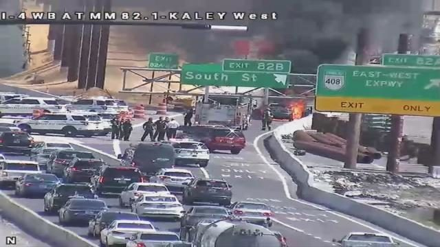 TRAFFIC ALERT: Vehicle fire closes I-4 exit to 408, South Street in Orlando