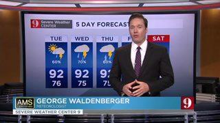 High rain chances Tuesday & Wednesday