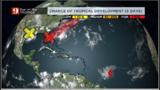 Isolated rain over Central Florida; Tropical Storm Dorian toward Caribbean