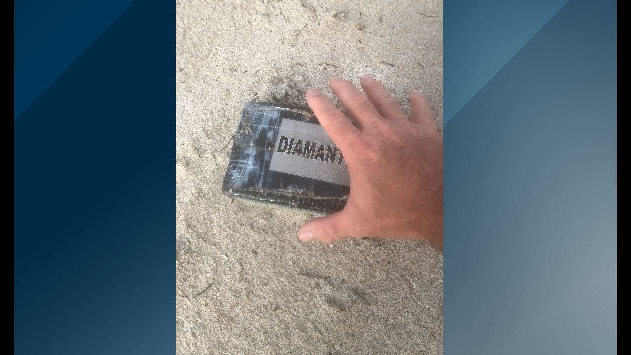 Brick of cocaine washes ashore Melbourne beach during