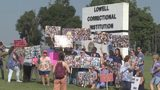 VIDEO: 50 people protest Lowell Correctional after they say inmate was nearly beaten to death
