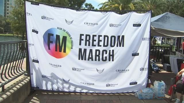 Freedom Marchers hold rally for formerly gay and transgender Christians in Orlando