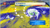 Humberto moves away from Florida, brings dry air to Florida