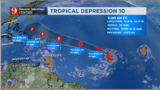 TROPICAL DEPRESSION 10 TRACK