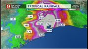 Rainfall estimates by TS Imelda from Tuesday afternoon through Friday afternoon