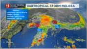 Subtropical Storm Melissa forms.