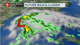 Fast-moving downpours & watching a storm on the Gulf of Mexico