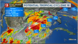Potential tropical cyclone 16, heavy rains in the forecast for parts of Florida this weekend.