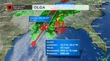 Tropical Storm Olga no longer tropical system, intertwines with cold front