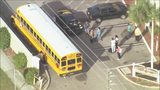 The driver of a car and a student were hurt Friday morning in a crash involving a school bus in Orange County, firefighters said.