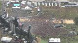 RAW VIDEO: Sky view of Electric Daisy Carnival's massive crowd