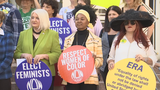 Video: Women?€™s rights groups rally for better wages, equal rights outside Orlando City Hall
