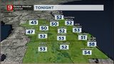 Low temperatures will be around the mid-50s across Central Florida tonight.